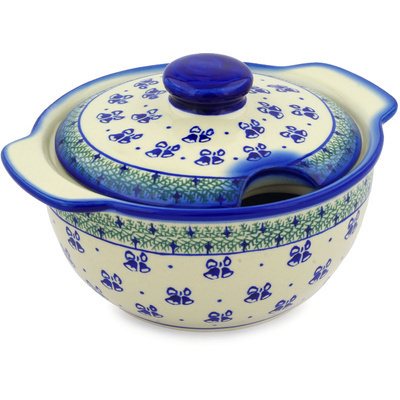 Polish Pottery 101 oz Tureen | Boleslawiec Stoneware | Polmedia H3657E