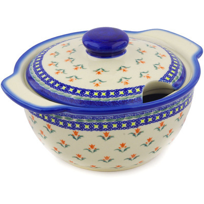 Polish Pottery 101 oz Tureen | Boleslawiec Stoneware | Polmedia H3602E