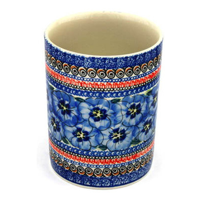Polish Pottery 7-inch Utensil Jar | Boleslawiec Stoneware | Polmedia H8951B