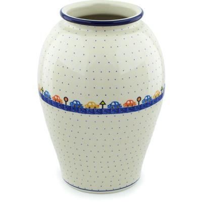 Polish Pottery 12-inch Vase | Boleslawiec Stoneware | Polmedia H6730H