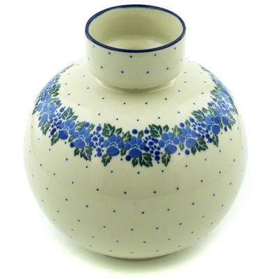 Polish Pottery 7-inch Vase | Boleslawiec Stoneware | Polmedia H6156H
