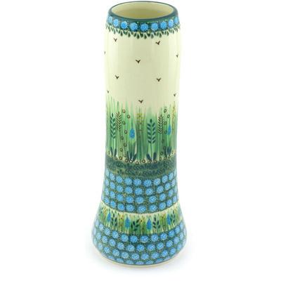 Polish Pottery 11-inch Vase | Boleslawiec Stoneware | Polmedia H3590G