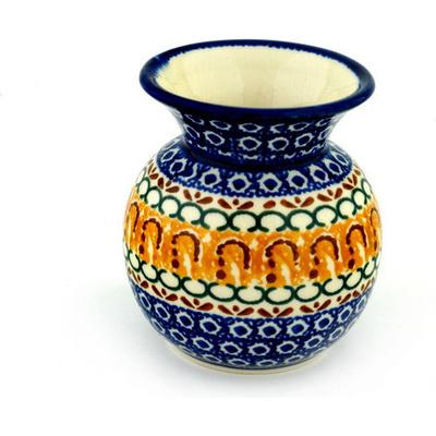 Polish Pottery 4-inch Vase | Boleslawiec Stoneware | Polmedia H9552A