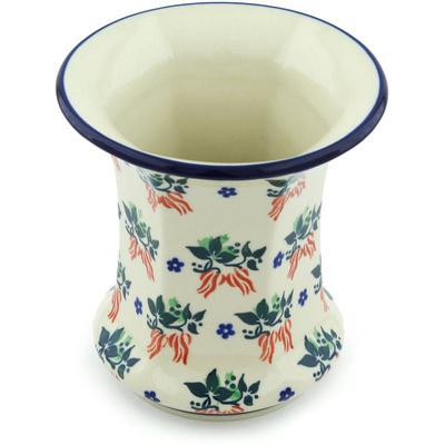 Polish Pottery 5-inch Vase | Boleslawiec Stoneware | Polmedia H5648H
