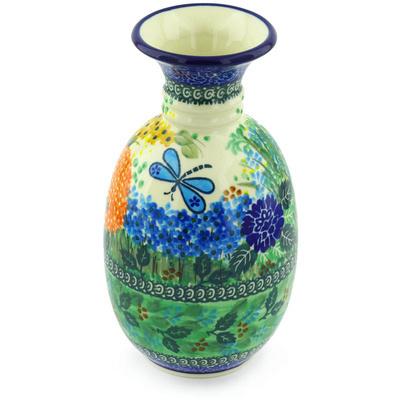 Polish Pottery 8-inch Vase | Boleslawiec Stoneware | Polmedia H5136G
