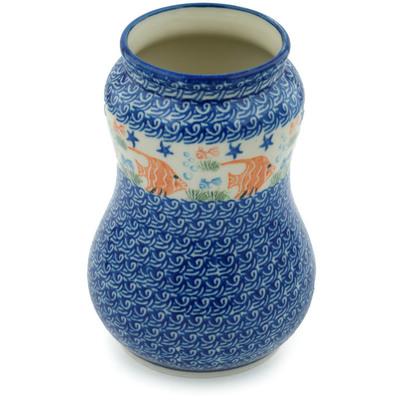 Polish Pottery 7-inch Vase | Boleslawiec Stoneware | Polmedia H3100C