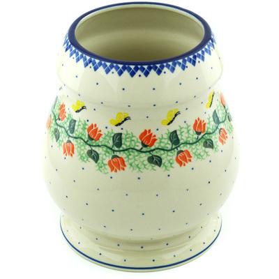 Polish Pottery 9-inch Vase | Boleslawiec Stoneware | Polmedia H6085H