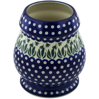 Polish Pottery 9-inch Vase | Boleslawiec Stoneware | Polmedia H6086H