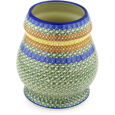 Polish Pottery 9-inch Vase | Boleslawiec Stoneware | Polmedia H2678D