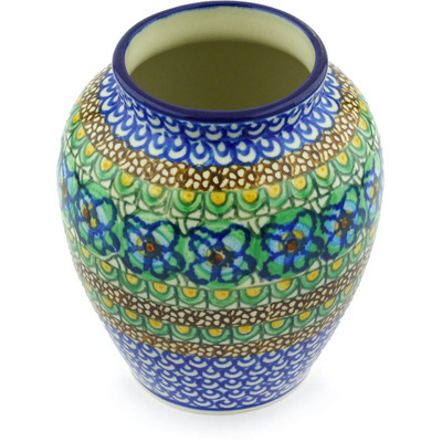 Polish Pottery 5-inch Vase | Boleslawiec Stoneware | Polmedia H6198G