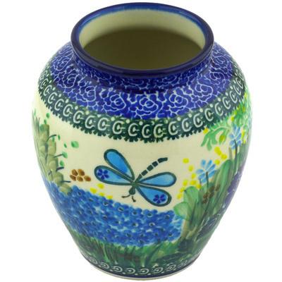 Polish Pottery 5-inch Vase | Boleslawiec Stoneware | Polmedia H5533G