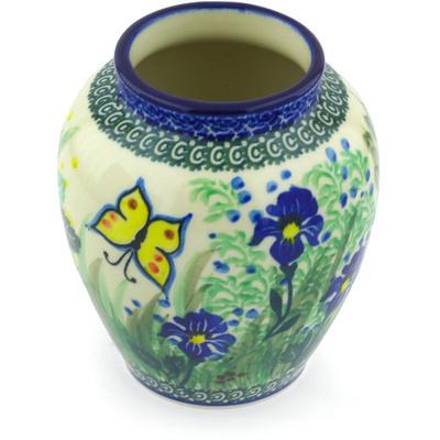 Polish Pottery 5-inch Vase | Boleslawiec Stoneware | Polmedia H5682G