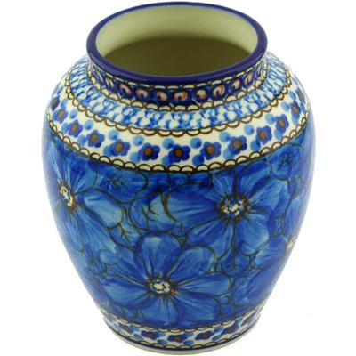Polish Pottery 5-inch Vase | Boleslawiec Stoneware | Polmedia H6252G