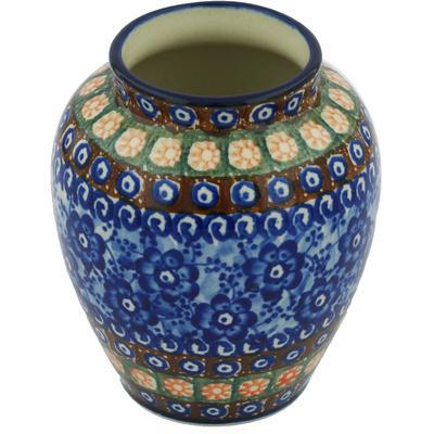 Polish Pottery 5-inch Vase | Boleslawiec Stoneware | Polmedia H8350G