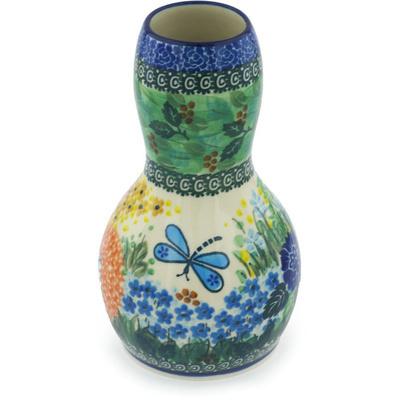 Polish Pottery 7-inch Vase   Boleslawiec Stoneware   Polmedia H9401G