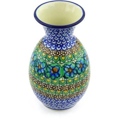 Polish Pottery 6-inch Vase | Boleslawiec Stoneware | Polmedia H5391G