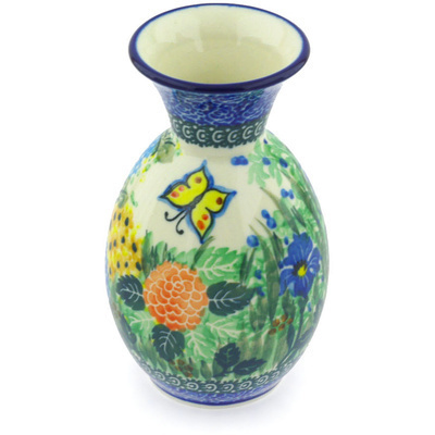 Polish Pottery 6-inch Vase | Boleslawiec Stoneware | Polmedia H4981G
