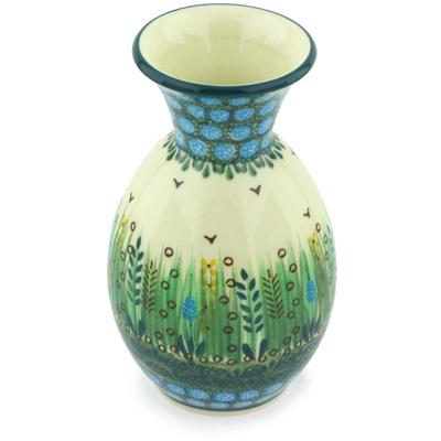 Polish Pottery 6-inch Vase | Boleslawiec Stoneware | Polmedia H3734G