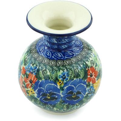 Polish Pottery 5-inch Vase | Boleslawiec Stoneware | Polmedia H5017H