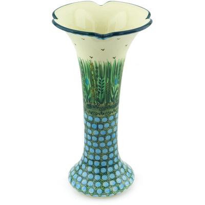 Polish Pottery 11-inch Vase | Boleslawiec Stoneware | Polmedia H4963G
