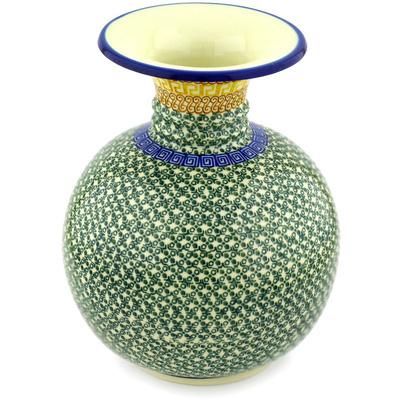 Polish Pottery 11-inch Vase | Boleslawiec Stoneware | Polmedia H2804D