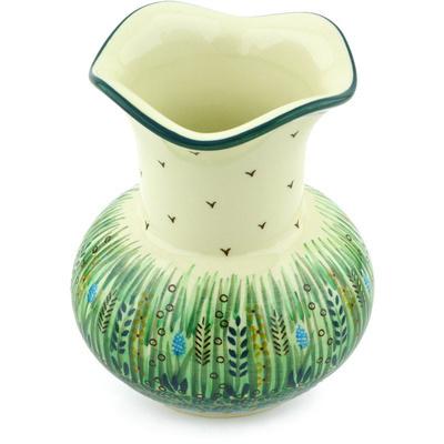 Polish Pottery 7-inch Vase | Boleslawiec Stoneware | Polmedia H4921G