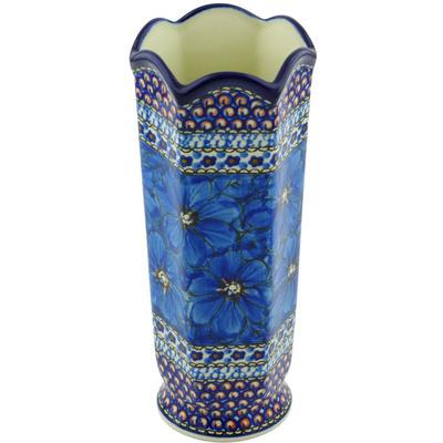 Polish Pottery 9-inch Vase | Boleslawiec Stoneware | Polmedia H6559G
