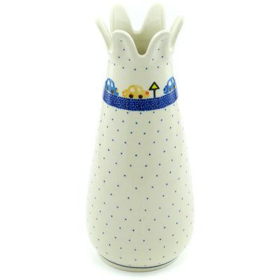 Polish Pottery 9-inch Vase | Boleslawiec Stoneware | Polmedia H6110H