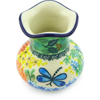 Polish Pottery 4-inch Vase | Boleslawiec Stoneware | Polmedia H5469G