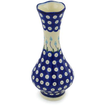 Polish Pottery 10-inch Vase | Boleslawiec Stoneware | Polmedia H0688H