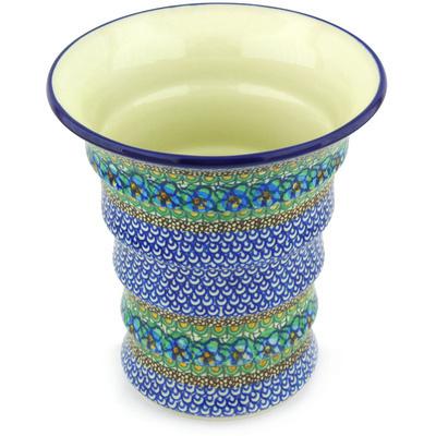 Polish Pottery 9-inch Vase | Boleslawiec Stoneware | Polmedia H5389G