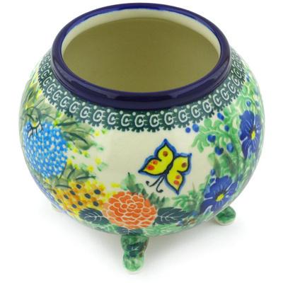 Polish Pottery 5-inch Vase   Boleslawiec Stoneware   Polmedia H3670G