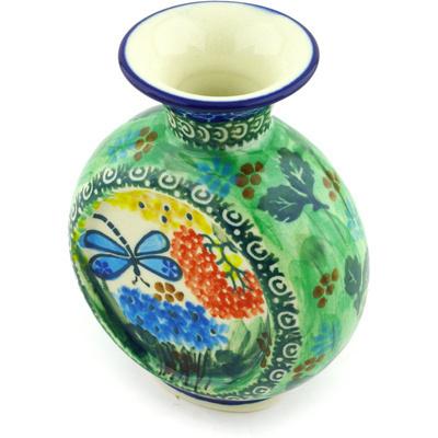 Polish Pottery 4-inch Vase | Boleslawiec Stoneware | Polmedia H5548G