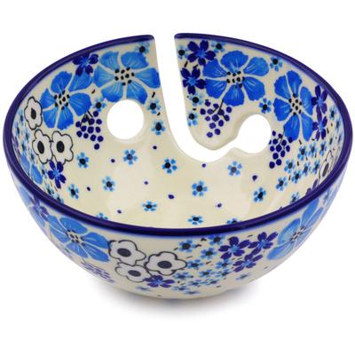 Polish Pottery 6-inch Yarn Bowl | Boleslawiec Stoneware | Polmedia H0268J