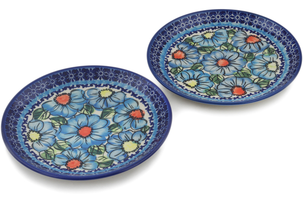 Polish Pottery Set of 2 Dessert Plates by Ceramika Bona
