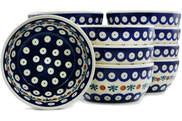 Polish Pottery Set of 12 Bowls 5