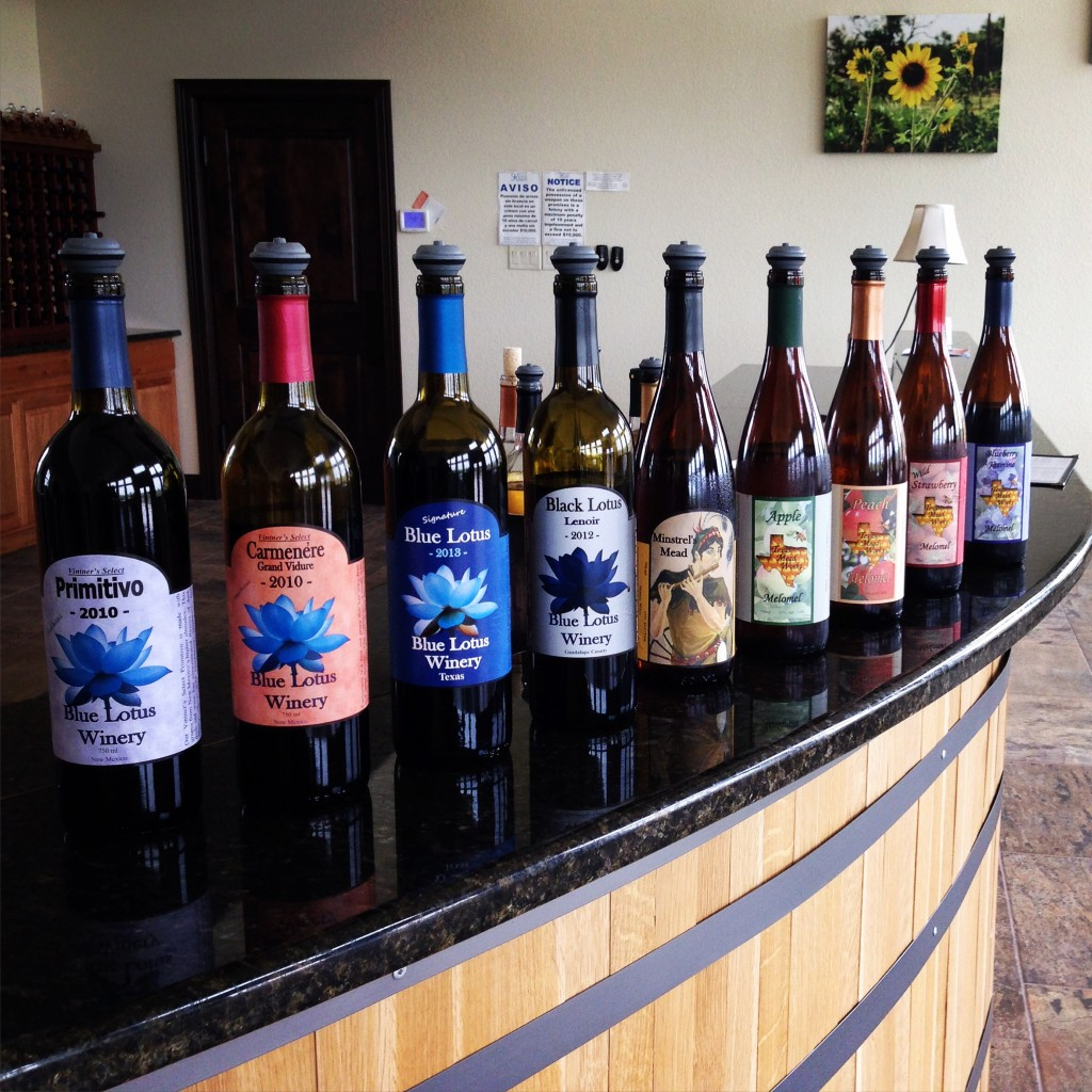 Wine and Mead made at Blue Lotus Winery