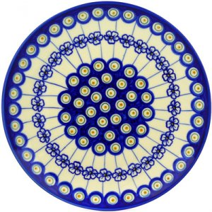 Peacock Pattern Polish Pottery