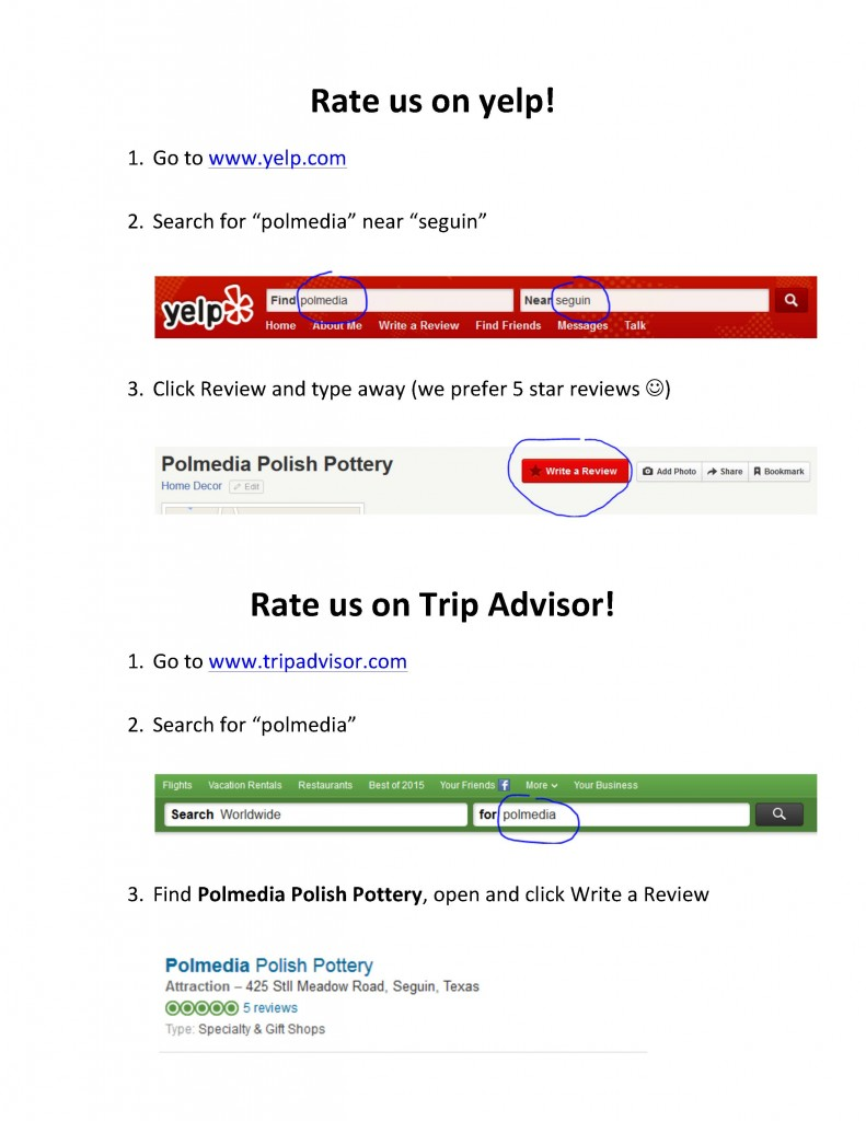 How to Leave a Yelp and Trip Advisor Review