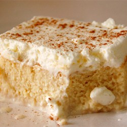 This delicious tres leches cake can be found on food.com