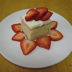 Strawberries on Tres Leches Cake