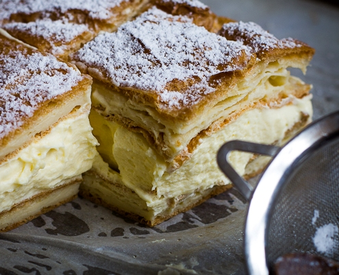 Recipe for Karpatka: Polish Vanilla Custard Slice