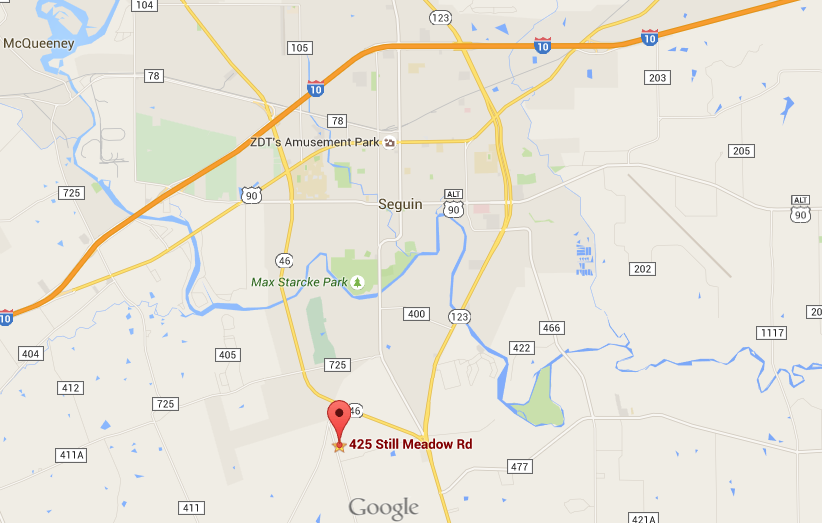 Here's a map of Polmedia Polish Pottery in Seguin, Texas