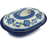 10-inch Stoneware Baker with Cover - Polmedia Polish Pottery H1863B