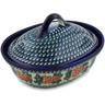 10-inch Stoneware Baker with Cover - Polmedia Polish Pottery H5819C