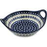 10-inch Stoneware Bowl with Handles - Polmedia Polish Pottery H4970I