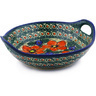 10-inch Stoneware Bowl with Handles - Polmedia Polish Pottery H5538F