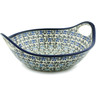 10-inch Stoneware Bowl with Handles - Polmedia Polish Pottery H5859I