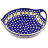 10-inch Stoneware Bowl with Handles - Polmedia Polish Pottery H5927F