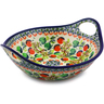 10-inch Stoneware Bowl with Handles - Polmedia Polish Pottery H8136I